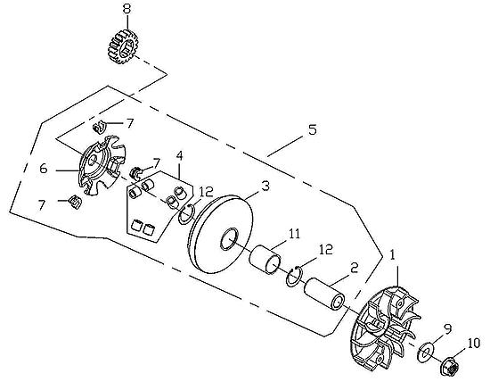Drive Face (Adly ATV 150S Interceptor)