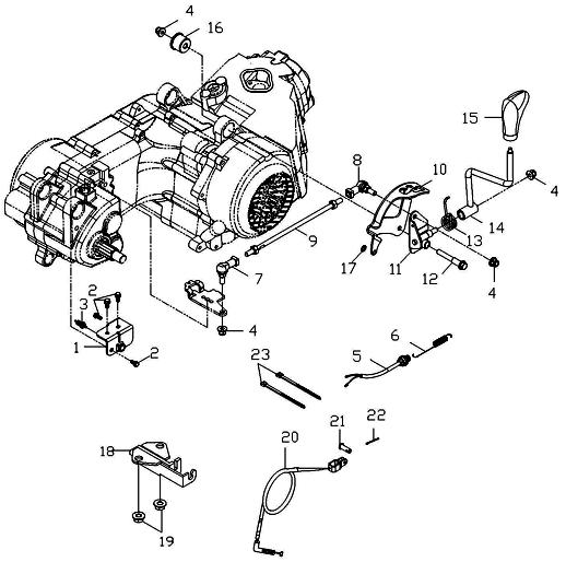 Gear Shift System (Adly ATV 150S Interceptor)
