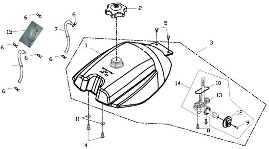 Fuel Tank (Adly ATV 150S Interceptor)