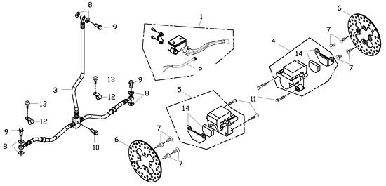 Front Brake (Adly ATV 150S Interceptor)
