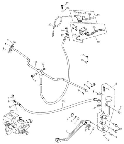 Brake System (Adly ATV 200S)