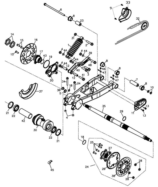 Swing Arm Sub-assembly (Adly ATV 220S)