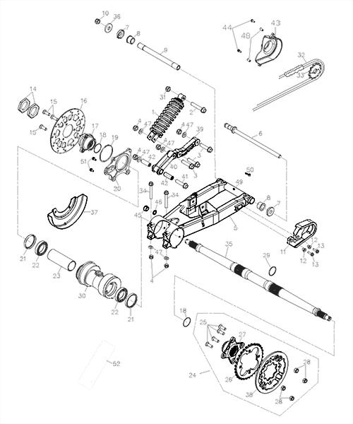 Swing Arm Sub Assy (Adly ATV Q280)