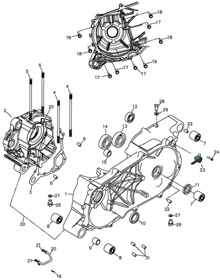 Crankcase (Adly ATV Q300)