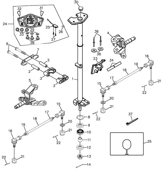 Steering (Adly ATV Q300)