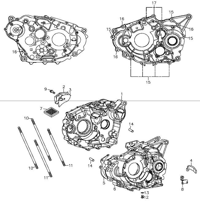 Crankcase (Adly ATV 300S II CrossXRoad)