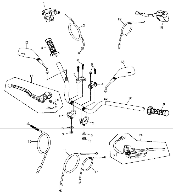 Handle Bar (Adly ATV 300S II CrossXRoad)