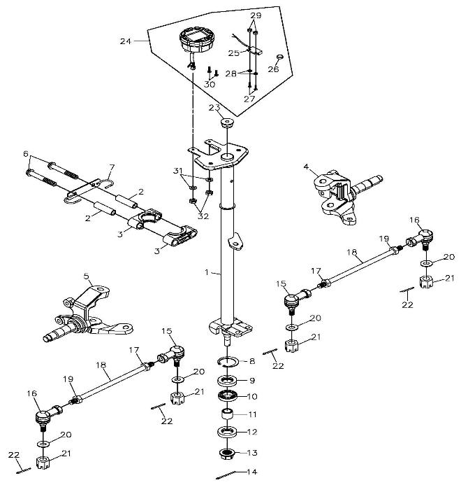 Steering (Adly ATV 300S II CrossXRoad)