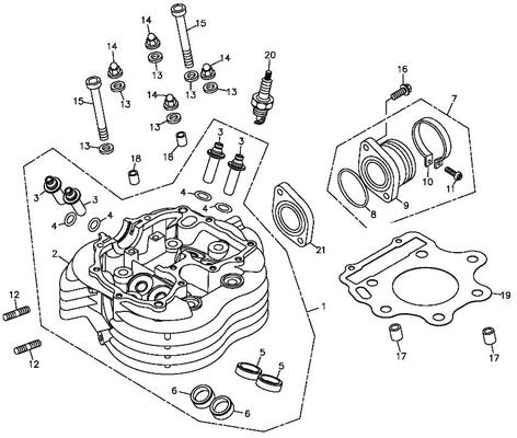Cylinder Head (Adly ATV 300S Interceptor)