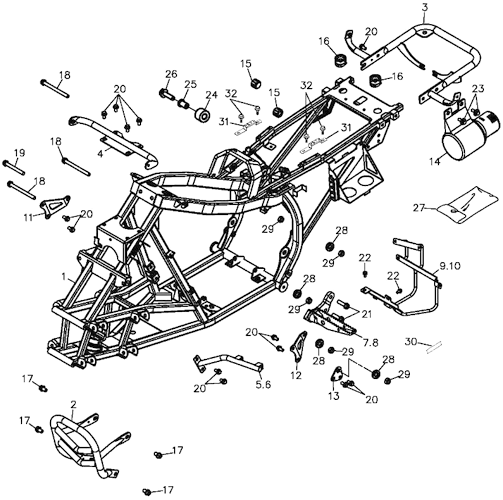 Frame Body (Adly ATV 300S Interceptor)