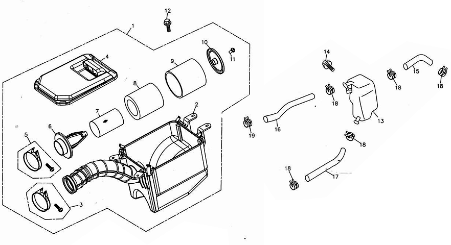 Air Cleaner/Oil Tank (Adly ATV 300S Interceptor)