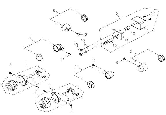 Signal Light, Tail Light (Adly ATV 300U II)