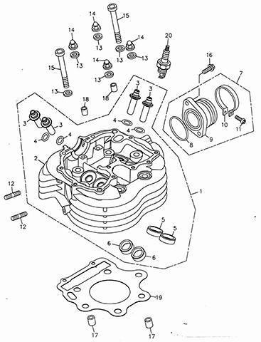 Cylinder Head (Adly ATV 300U)