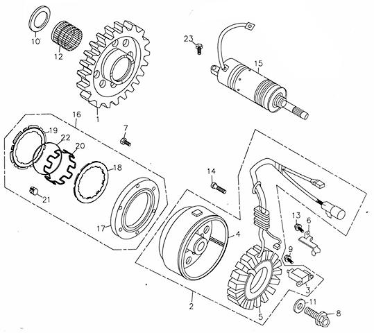 Generator (Adly ATV 300U)