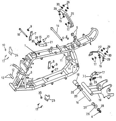 Frame Body (Adly ATV 50cc 2T)