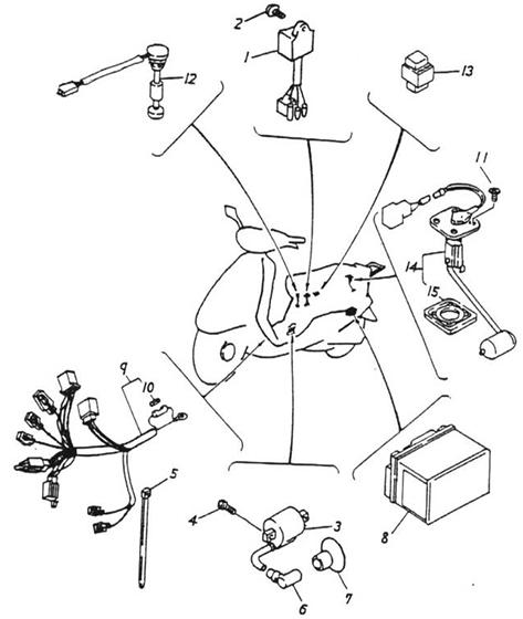Electrical Equipment (CDI) (Thunder Bike 50)