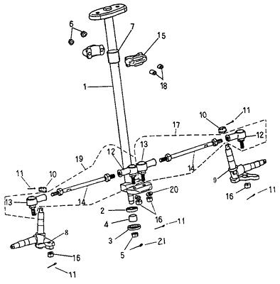 Steering (Adly ATV 90cc 2T)