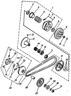 Clutch (Adly ATV 90cc 2T)