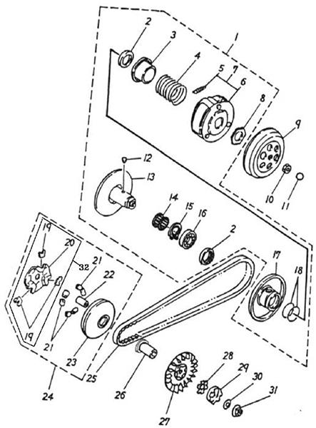 Transmission (Adly GTA-50 2010)