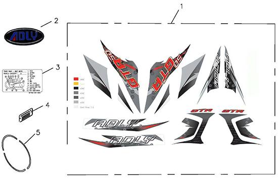 Sticker (45km) (Adly GTA-50 2010)
