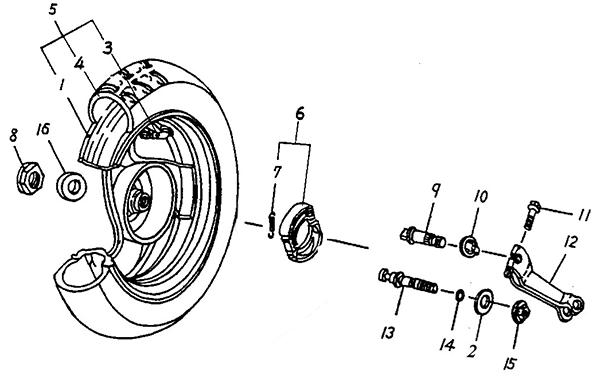 "Rear Wheel (10"") (Adly Jet 50)"