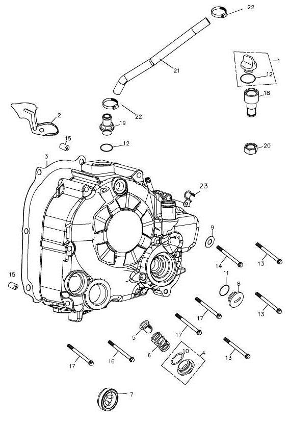 Right Crankcase Cover (Adly Mini Car 320)