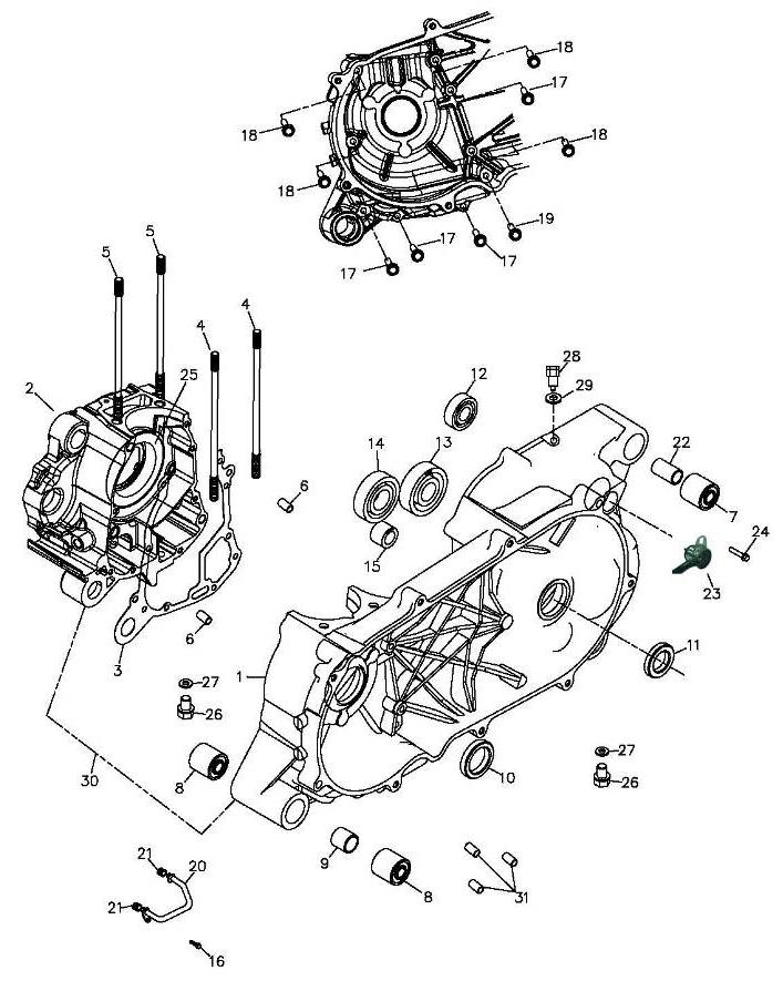 Crankcase (Adly Mini Car 320)