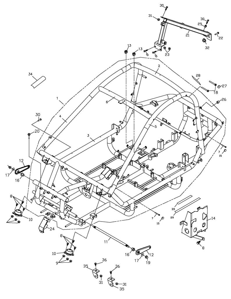 Frame Body (Adly Mini Car 320)