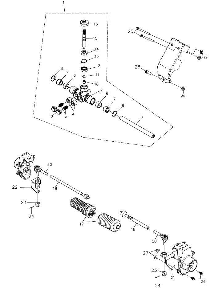Steering Mechanism (Adly Mini Car 320)