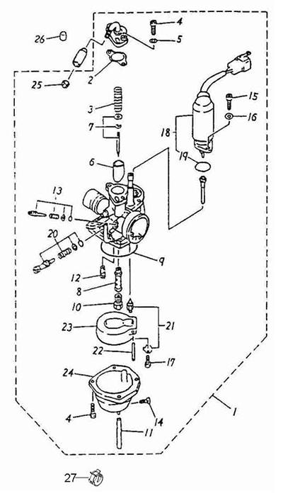 Carburetor (Adly Atv 100D)