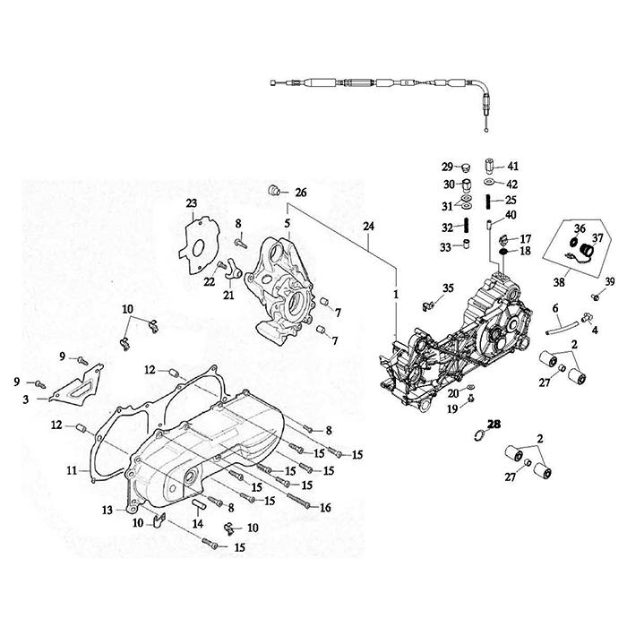 Crankcase (Adly Atv 100D)