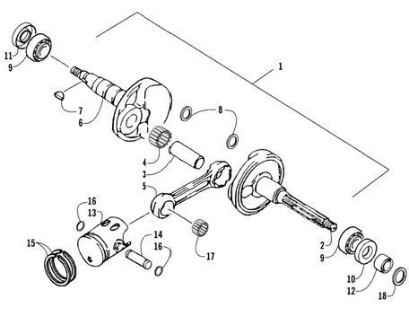 Crankshaft Assembly (Arctic Cat 90 2T)