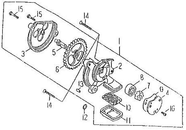 Oil Pump (Barossa Silverhawk 250)
