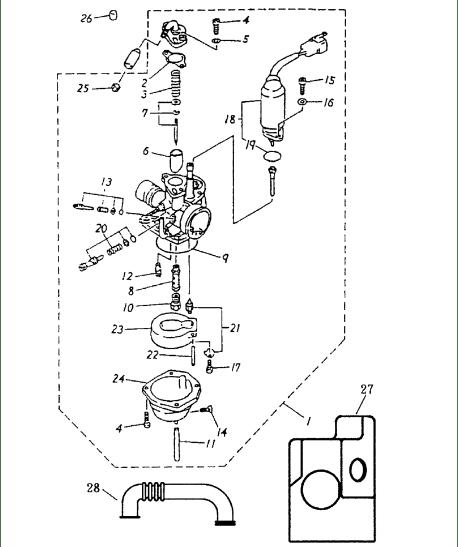 Carburetor (Bombardier Mini DS 50 2T)
