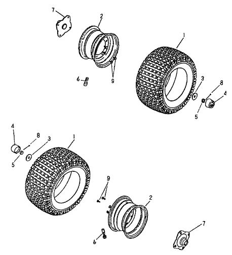 Rear Wheel (Bombardier Mini DS 50 2T)