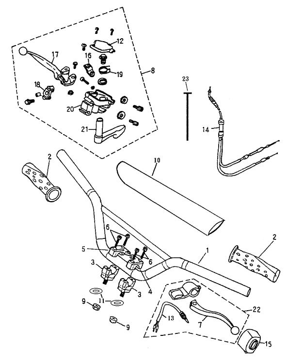 Handlebar (Bombardier Mini DS 90 2T)