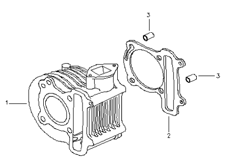 Cylinder (Bombardier Mini DS 90 4T)