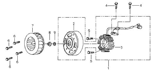 Generator (Magneto) (Bombardier Mini DS 90 4T)