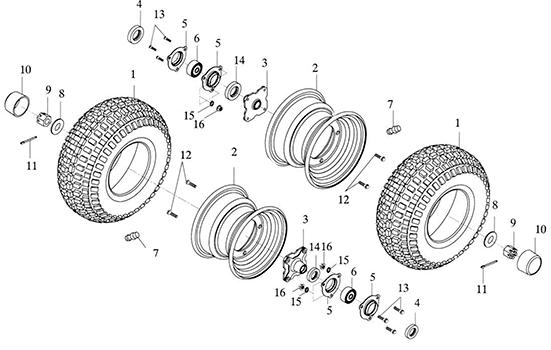 Rear Wheel (Adly GK-125 (BK-125) 2005)