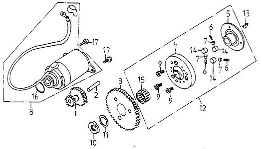 Starting Motor (Adly GK-125 2009)