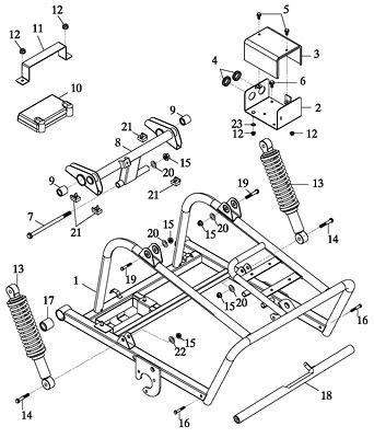 Engine Bracket Assy (Adly GK-125 2009)