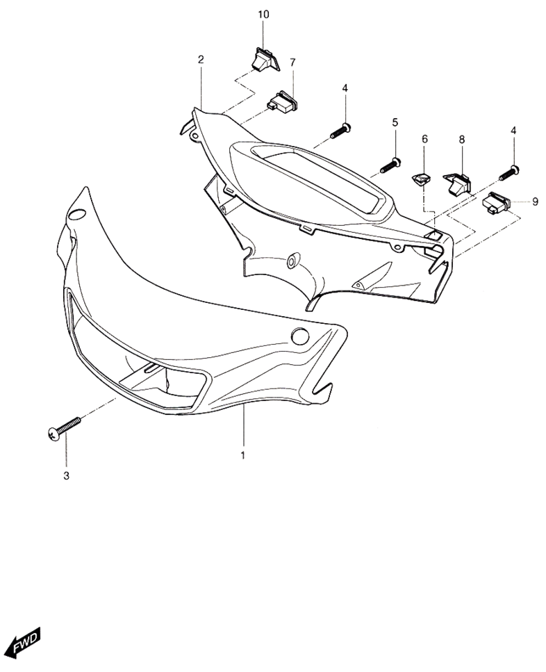 Handle Cover (Hyosung Sense SD-50 Scooter)