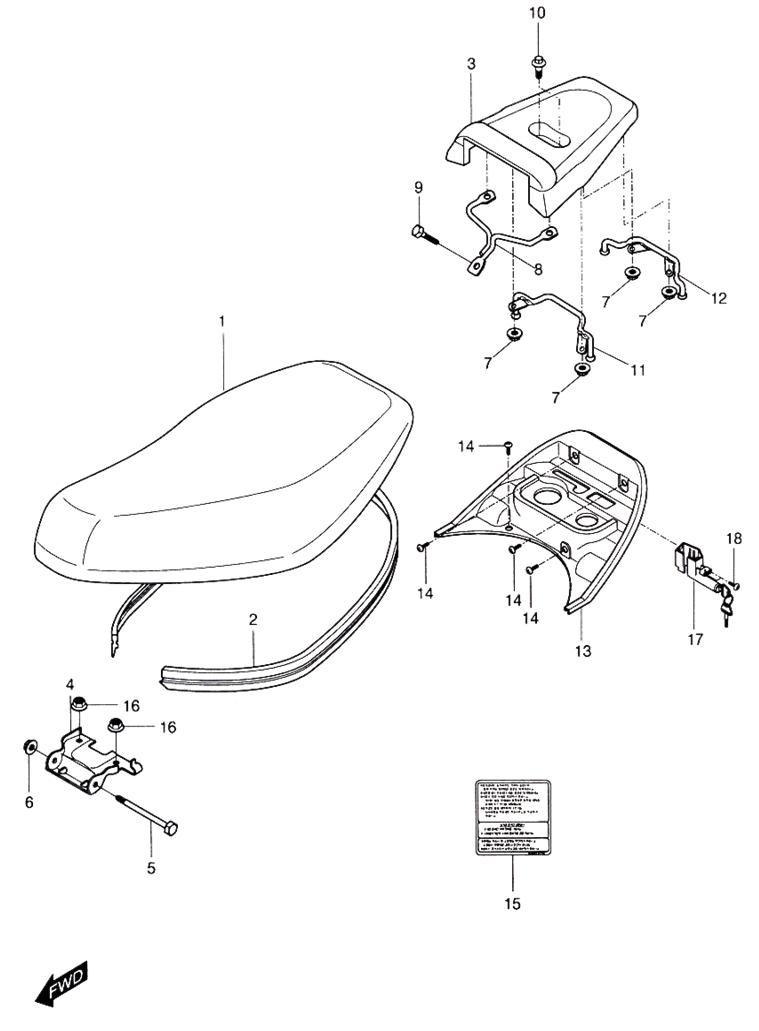 Seat (Hyosung Sense SD-50 Scooter)