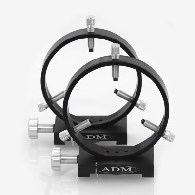 ADM Accessories | D Series | Dovetail Ring | DR125 | DR125- D Series Ring Set. 125mm Adjustable Rings | Image 1