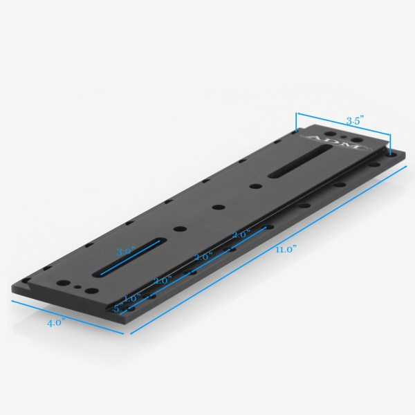 ADM Accessories | D Series | Universal Dovetail Bar | DUP15AP | DUP15AP- D Series Universal Dovetail Bar. 15″ Long, 3.5″ Spacing | Image 2