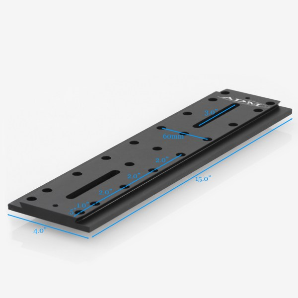 ADM Accessories   D Series   Universal Dovetail Bar   DUP15M   DUP15M- D Series Universal Dovetail Bar. 15″ Long, 60mm Spacing   Image 2