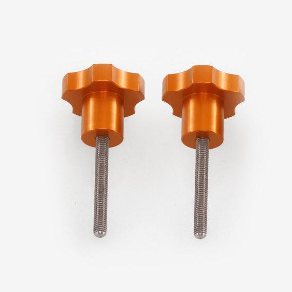 ADM Accessories | Miscellaneous | Thumb Screws - Hand Knobs | CGEM-AZ | Celestron CGEM Azimuth Adjustment Knobs - Orange | Image 1