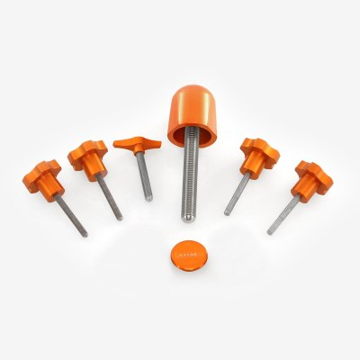ADM Accessories | Miscellaneous | Thumb Screws - Hand Knobs | CGEM-DX | Celestron CGEM Knob Upgrade Kit for DX Version - Orange | Image 1