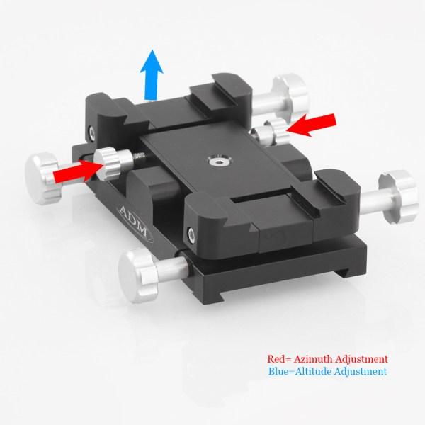 ADM Accessories | Miscellaneous | ALT/AZ Aiming Devices | MAX-F | Mini-MAX ALT/AZ Aiming Device. Female Saddle Version | Image 3