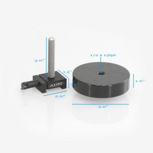 ADM Accessories | MDS Series | Dovetail Counterweights | MDS-CW-S | MDS-CW-S- MDS Series Counterweight with 3″ Threaded Rod | Image 3